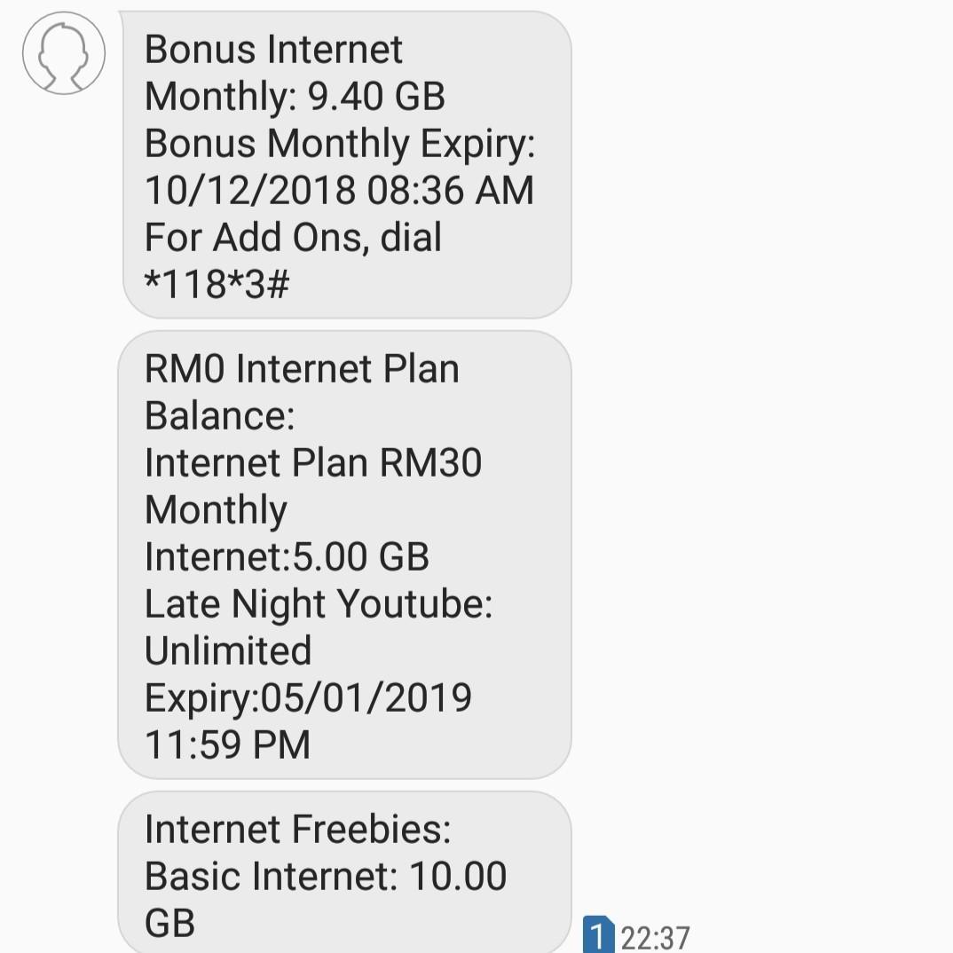 USED Celcom Malaysia sim card EXPIRES 5JAN2019 data / call