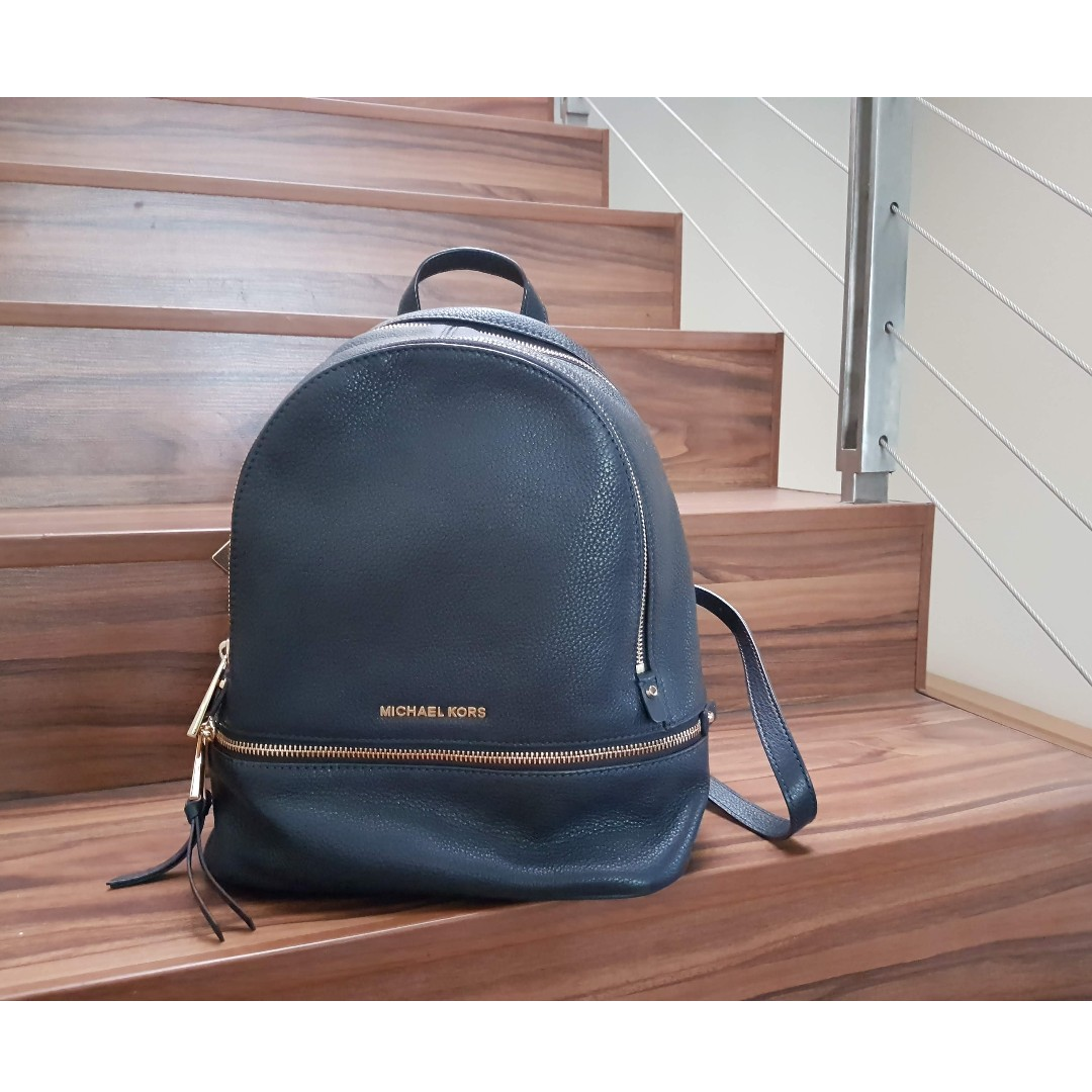 05bb9b6c5e28 Used once  MICHAEL MICHAEL KORS Rhea Medium Leather Backpack in ...