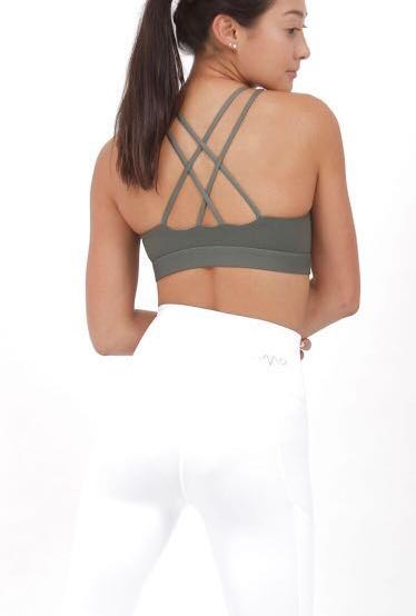 0210127807e22 Vivre Activewear Nimble Active Sports Bra in Olive