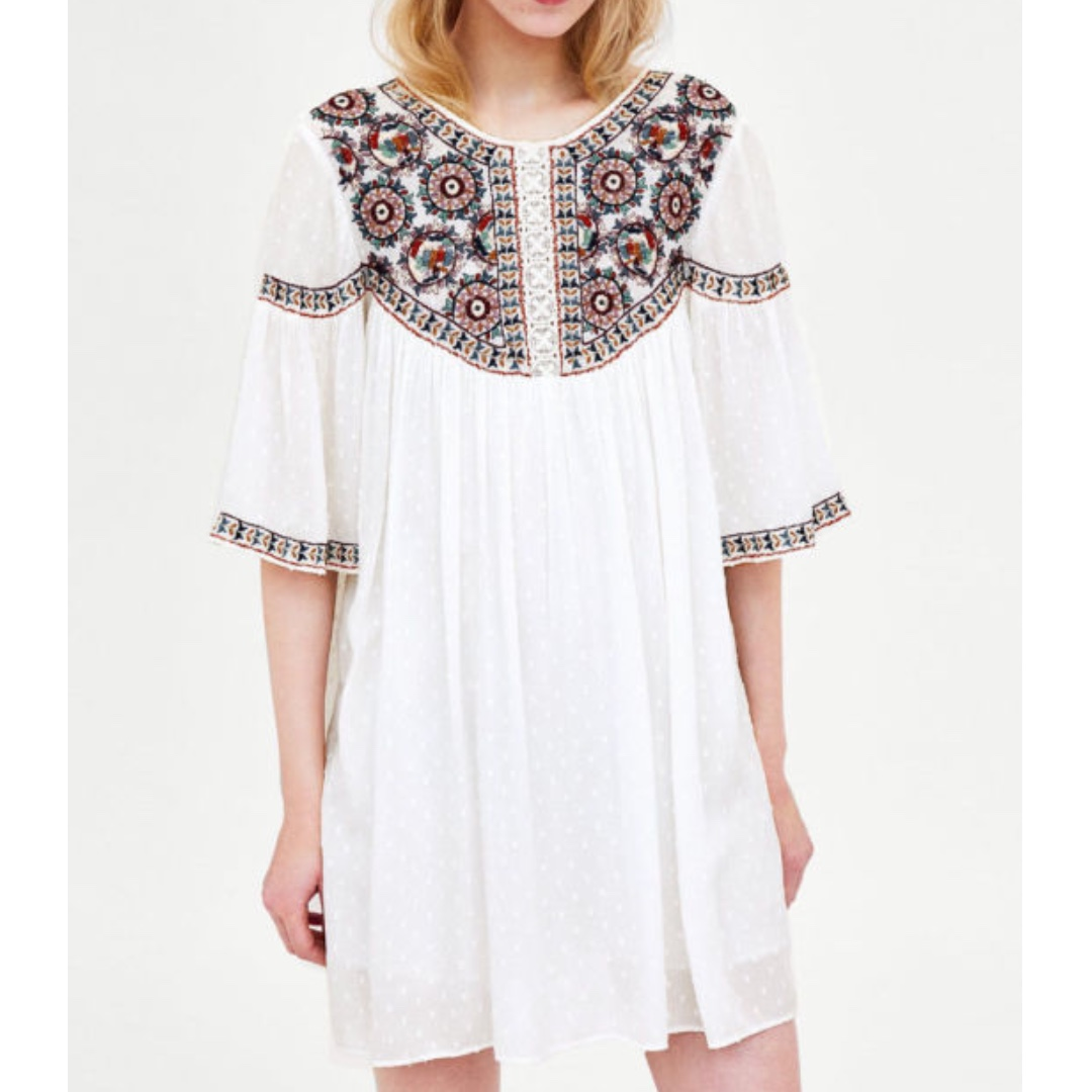 953319a45a Zara boho embroidered playsuit-dress size S (RRP  59)
