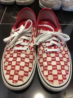 Vans supreme checkerboard red era uk8 us9