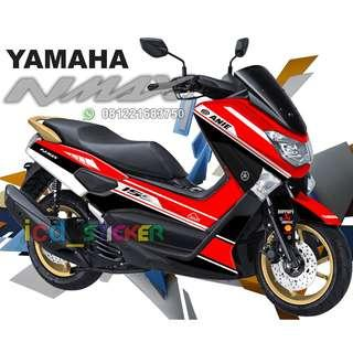 decal nmax red grafis