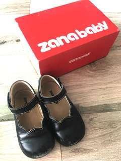 Zanababy 軟真皮黑鞋 返學鞋