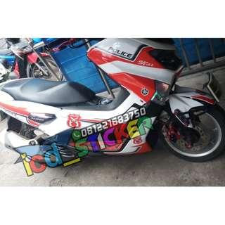 decal nmax white police