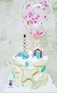 Birthday cake - The meaning of travel