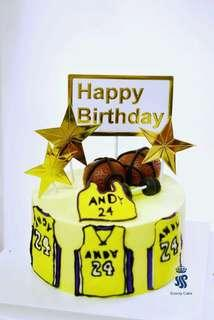 Birthday cake - Basketball theme