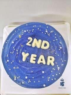 "Birthday cake - Star theme(6"")"