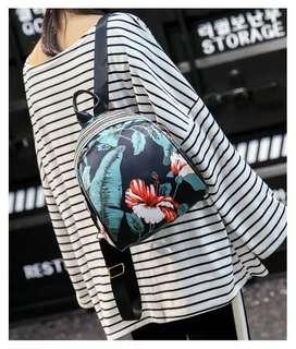 Korea Flower Floral Backpack
