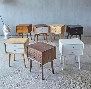 Scandinavian Style Bedside Drawers