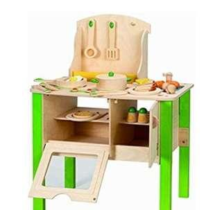 (PO) BN Hape - My Creative Cookery Club Green Ultimate Kitchen Play Set
