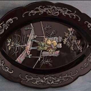 Rosewood/ mahogany Decor plates