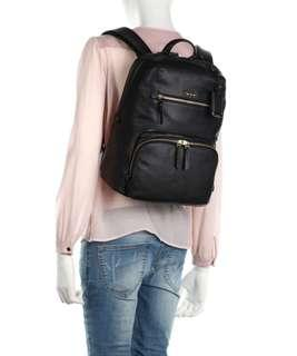 Readystock tumi voyageur halle leather backpack