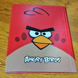 🚚 Angry Birds Plastic Folder (Red)