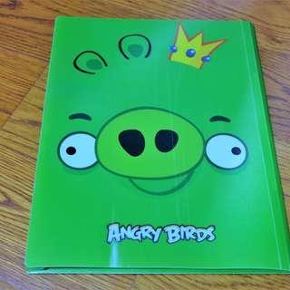 🚚 Angry Birds Plastic Folder (Green)
