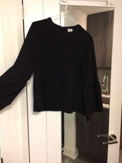 Wilfred blouse with bell sleeve