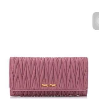 Miu Miu Matelasse Wallet (Christmas sale)