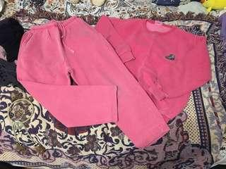 Salmon pink sweater and sweatpant set