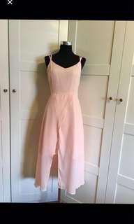 Pink Dress/pink maxi dress/ front slit dress/ dress/ maxi dress/ strappy dress