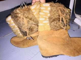Boho boots / brown boots / suede boots
