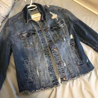 Hollister Distressed Denim Jacket