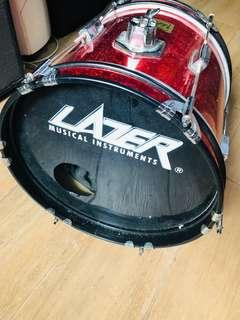 Lazer mini Drum set kick drum x 1 Tom x 3 snare x 1 for 3-7 yso Children
