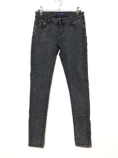 🚚 超彈性顯瘦煙灰色牛仔內搭褲 彈力褲 休閒褲