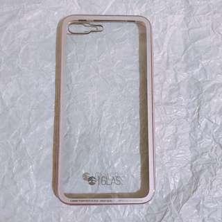 🚚 Iphone 7/8 plus iGlass 金屬邊框+7H鋼化玻璃背蓋保護殼