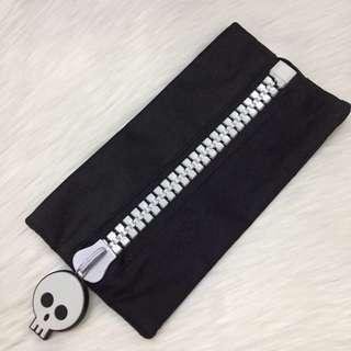 💕 Preloved Black Skeleton Pencil Case #subangjayaswap