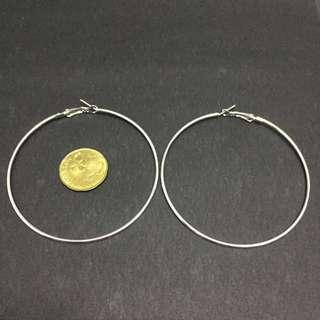 📌 [RS] 7cm Silver Hoop Earrings #subangjayaswap