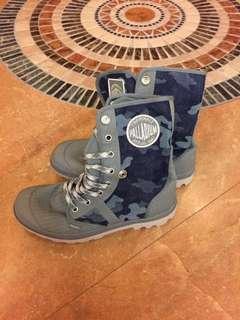🚚 palladium 藍色迷彩 防潑水靴