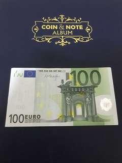 歐元紙鈔100元