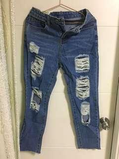 爛牛牛仔褲
