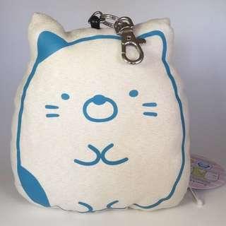 "Limited Edition 5"" San-X Sumikko Gurashi Sumikkogurashi Neko Cat Kitten Figurine Plush Stuffed Soft Toy Keychain Bag Charm Pocket ID Pass Case EZ-Link Ezlink Card Protector Holder Luggage Tag"