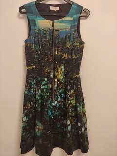 Portmans Cityscape Blue Dress