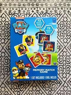 PAW PATROL MEMORY GAME
