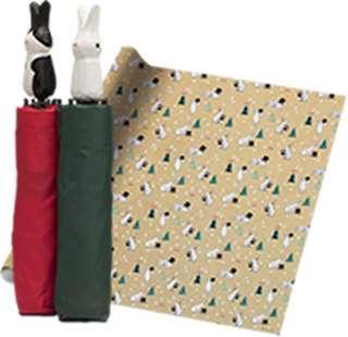 Brand New Bunny Rabbit Magical Wonderland Inspired Foldable Brolly Umbrella (Red)