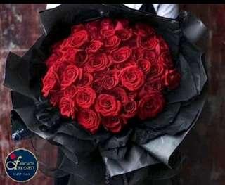33 Stalks Red🌹 Roses (Fresh Flower Bouquet) | Rose Flower | Flower Bouquet | Flower | Flowers | Fresh Flower | Rose | Roses