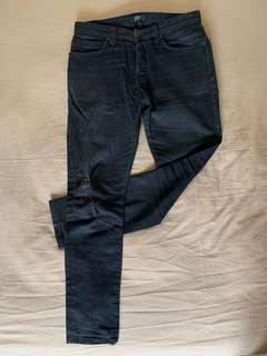 NEUW ray tapered (slim fit) denim jeans pants Black