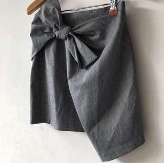 Zara plaid wrap tie skirt