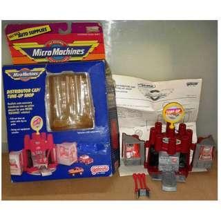 絕版 二手 1989年 Galoob Micro Machines Secret Auto Supplies Distributor Cap Tune-Up Shop playset 1款
