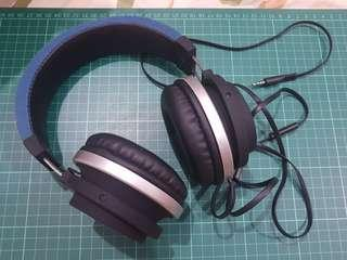 Audley Powerjam Headphones (with Microphone) - Francisco Blue