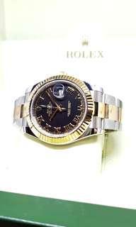 Rolex Black Oyster Perpetual Datejust II