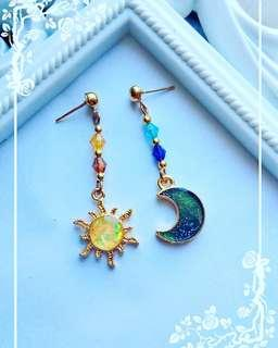 Sun and Moon Galaxy Earrings