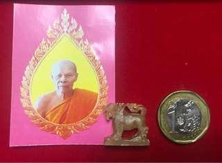 LP SIN BE2559 SINGHA BUFFALO AMULET 100% Authentic
