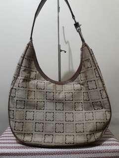 Liz Claiborne Monogram Hobo Bag