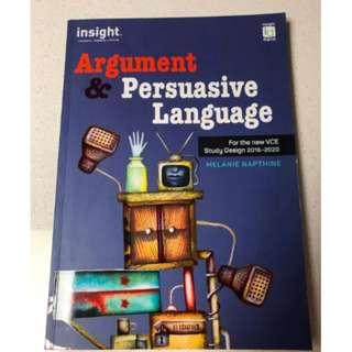 Vce English Insight Argument And Persuasive Language Textbook