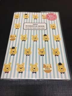 日本 小熊維尼 Winnie the Pooh 行事曆 schedule book 2019