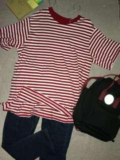 Monki Striped Red Top