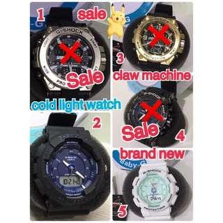 🚚 sale🥰🥺claw machine(brand new)cold light watch 娃娃機出貨 全新未使用 g-shock casio 運動款冷光手錶⌚️sale