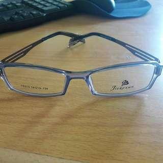 New Kacamata Bening Fashion Import Keren Frame Kebiru2an (Bs Ganti Lensa)